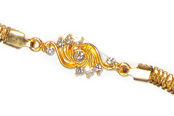 Golden Braclet Rakhi