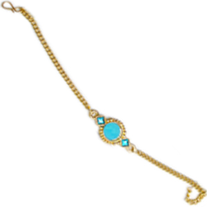 Golden Rakhi with stone - Medium Size