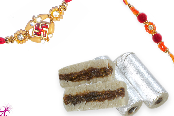 Diamond Swastik & Pavitra Rakhi with Anjir Roll