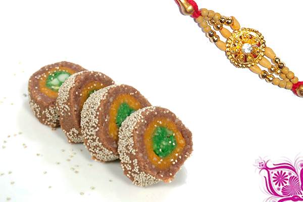 Diamond Top rakhi and Choco Pie